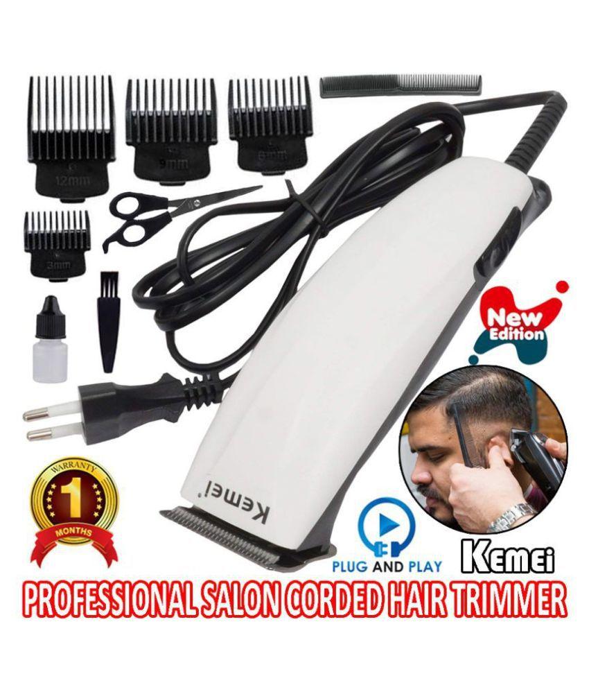 KEMEI Waterproof Powerful Corded Hair Clipper Beard Mustache Trimmer for Men Casual Gift Set