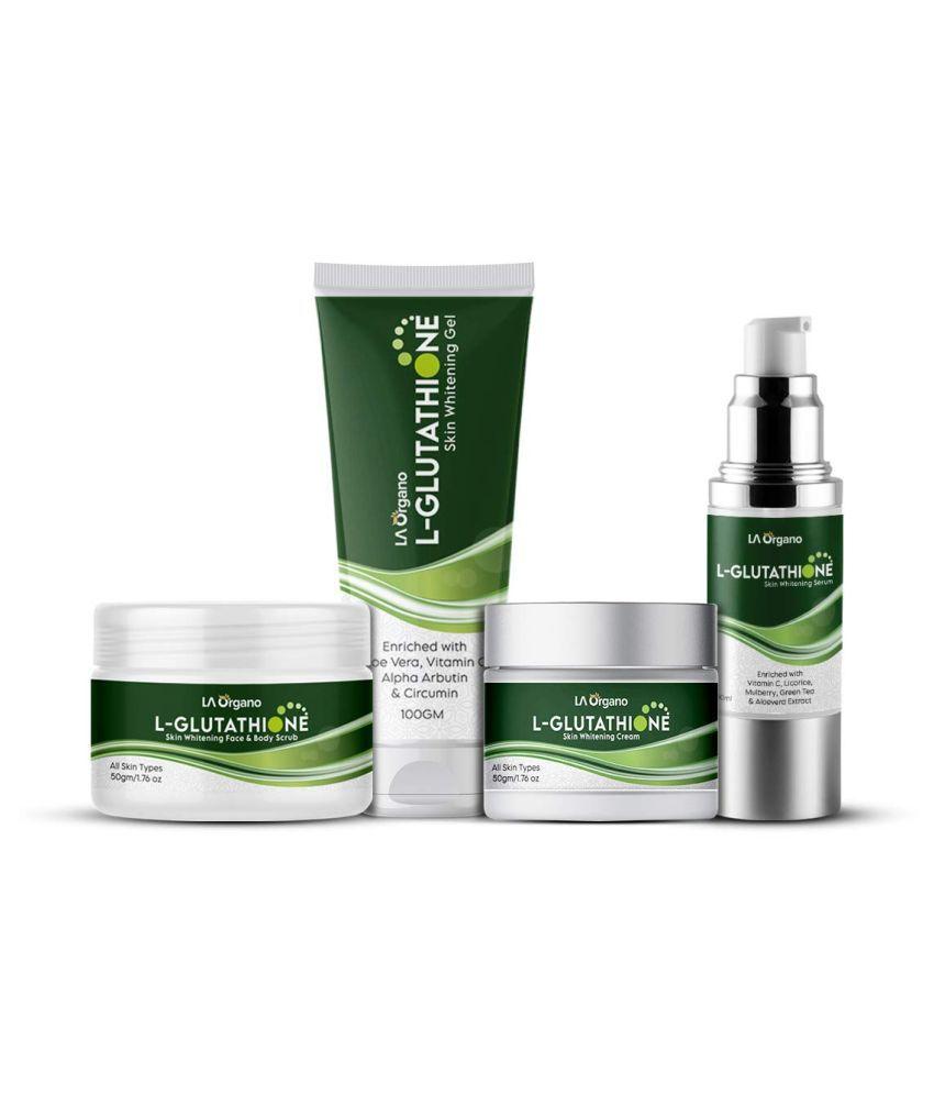 LA ORGANO L-Glutathione Cream,Scrub,Gel,Serum Facial Kit g Pack of 4