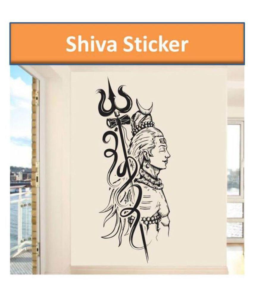 HOMETALES Lord shiva Sticker   100 x 40 cms