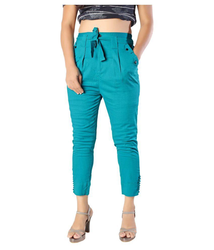 elenia Cotton Slit Pants
