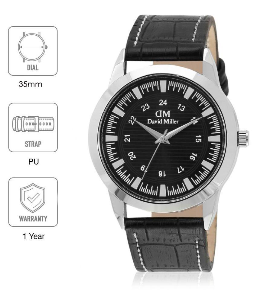 David Miller DMRCM219  PU Analog Men's Watch