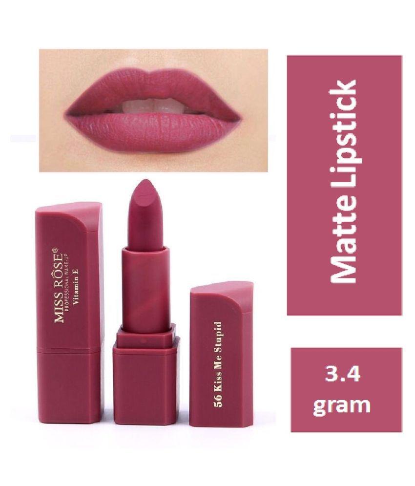 Miss Rose Professional kiss me stupid Lipstick Wine 3.4 g
