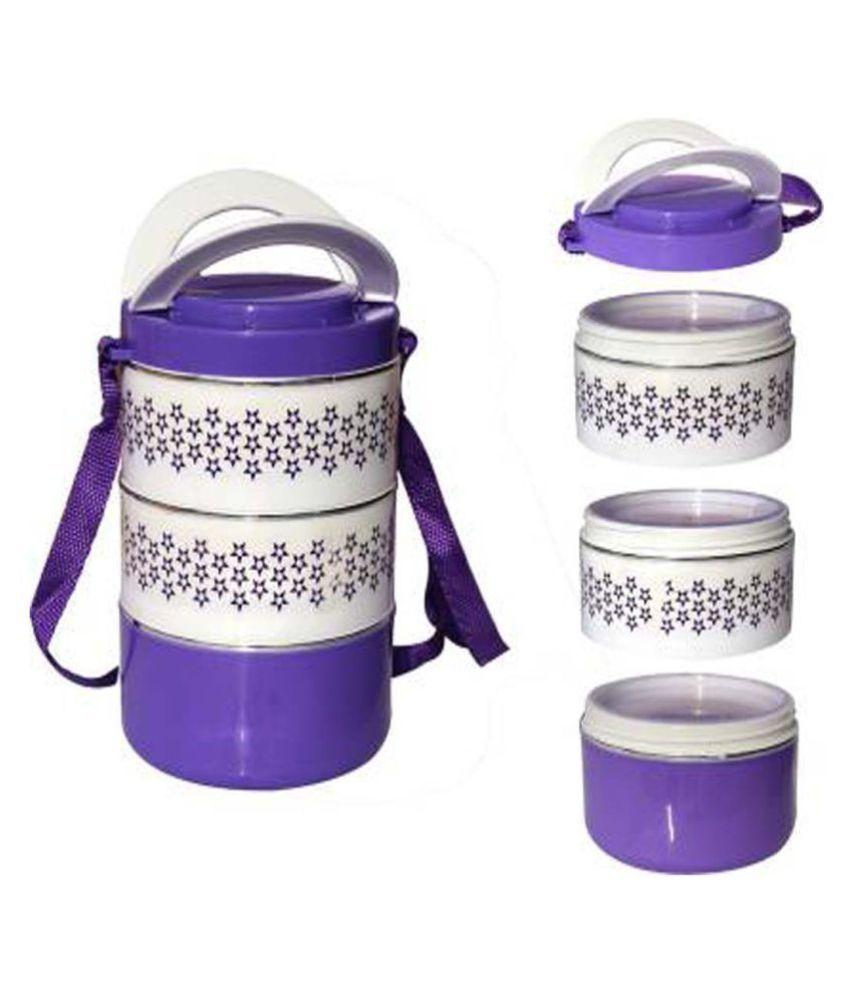ZMS Purple Virgin Plastic Lunch Box