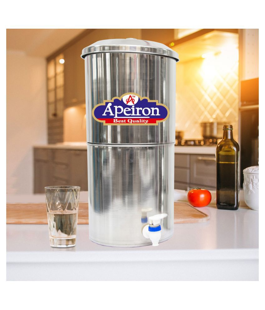 Apeiron Water Filter 30ltr Stainless Steel Bottom Loading Water dispenser