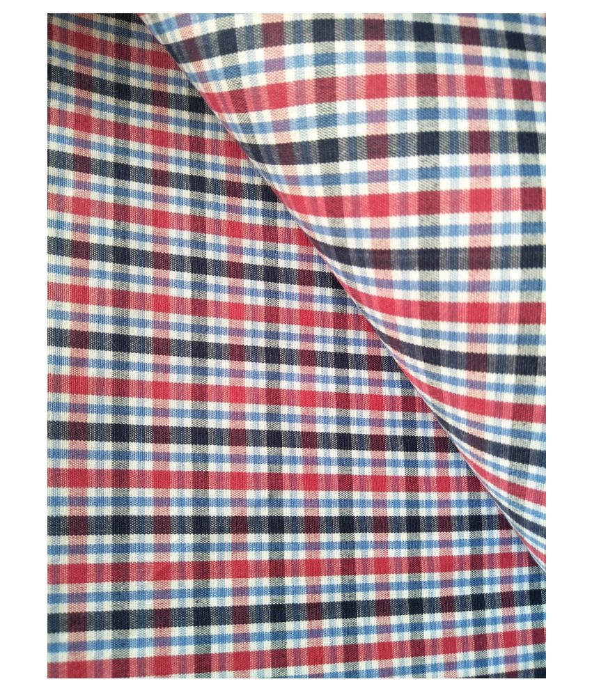 Makhanchor Multi 100 Percent Cotton Unstitched Shirt pc