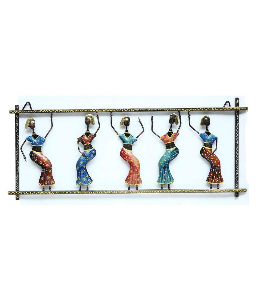 microtex Iron Dancing Ladies Designer Shape Decoratives Panel Multi - Pack of 1