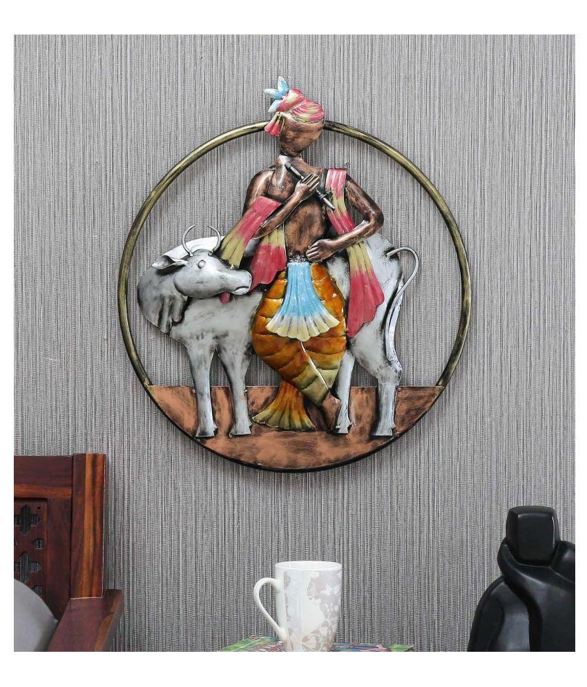 microtex Iron Lord Krishna Designer Shape Decoratives Panel Multi - Pack of 1