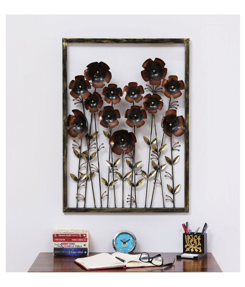 microtex Iron Ton Daisy Panel Designer Shape Decoratives Panel Brown - Pack of 1