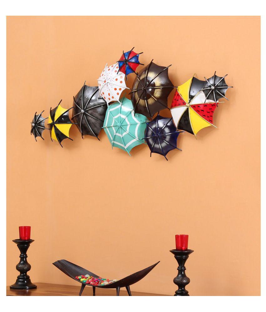 microtex Iron Umbrella panel Designer Shape Decoratives Panel Blue - Pack of 1