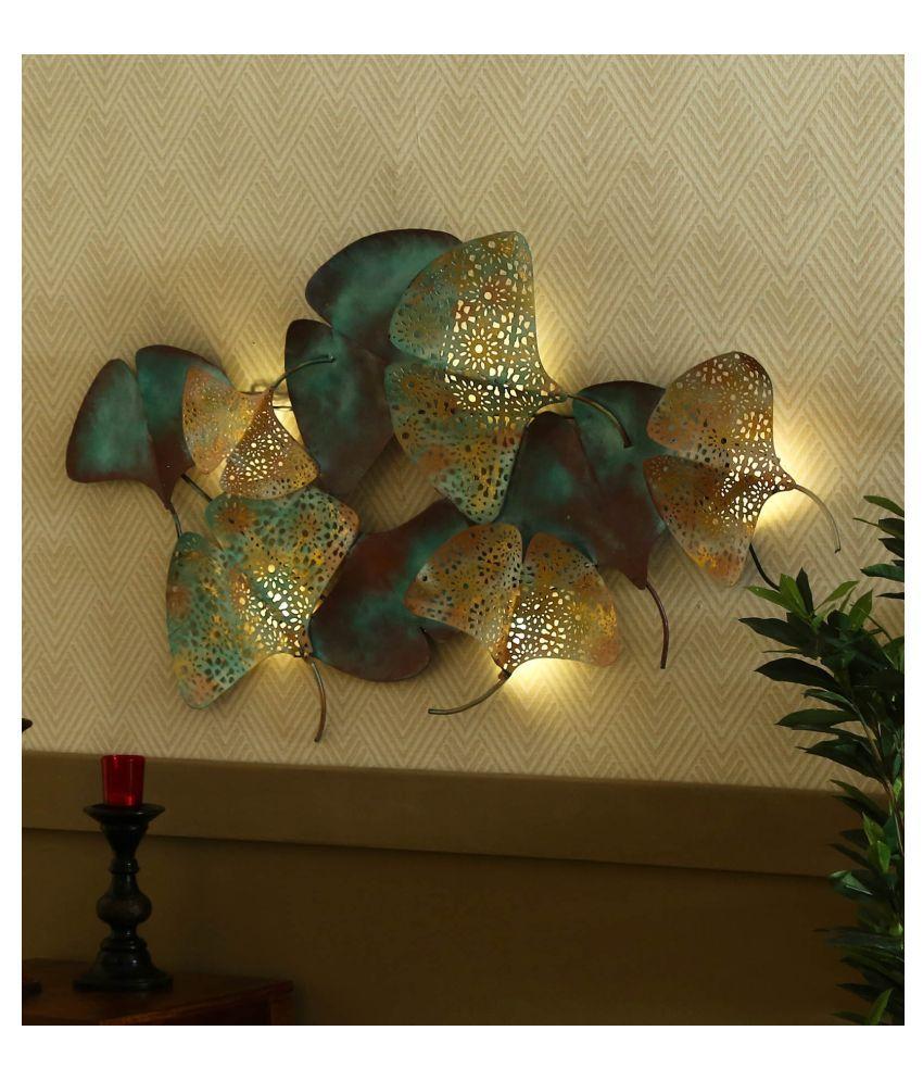 microtex Iron zingo leaves LED Designer Shape Decoratives Panel Multi - Pack of 1