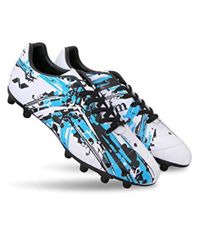 Nivia Storm Football Shoe Studds Unisex White