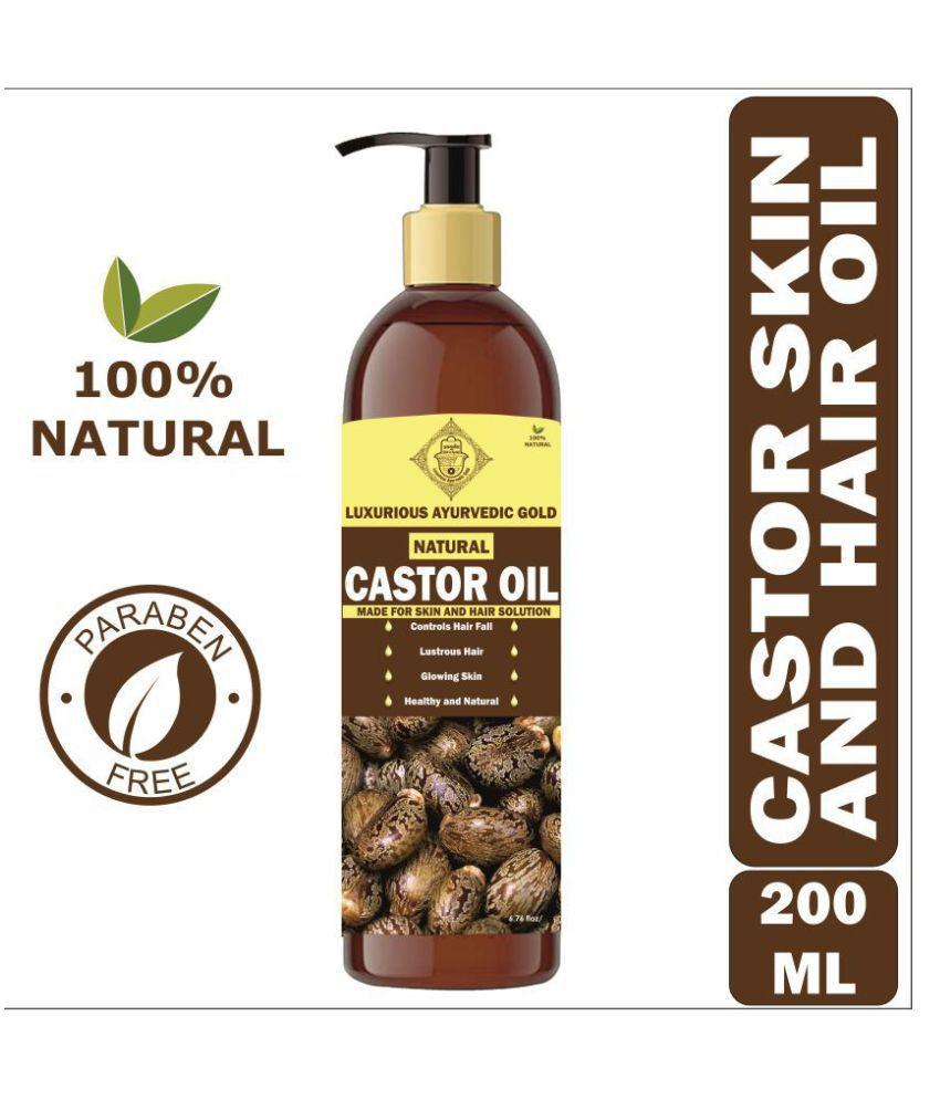 Luxurious Ayurvedic Gold Hair and Skin Oil 200 mL