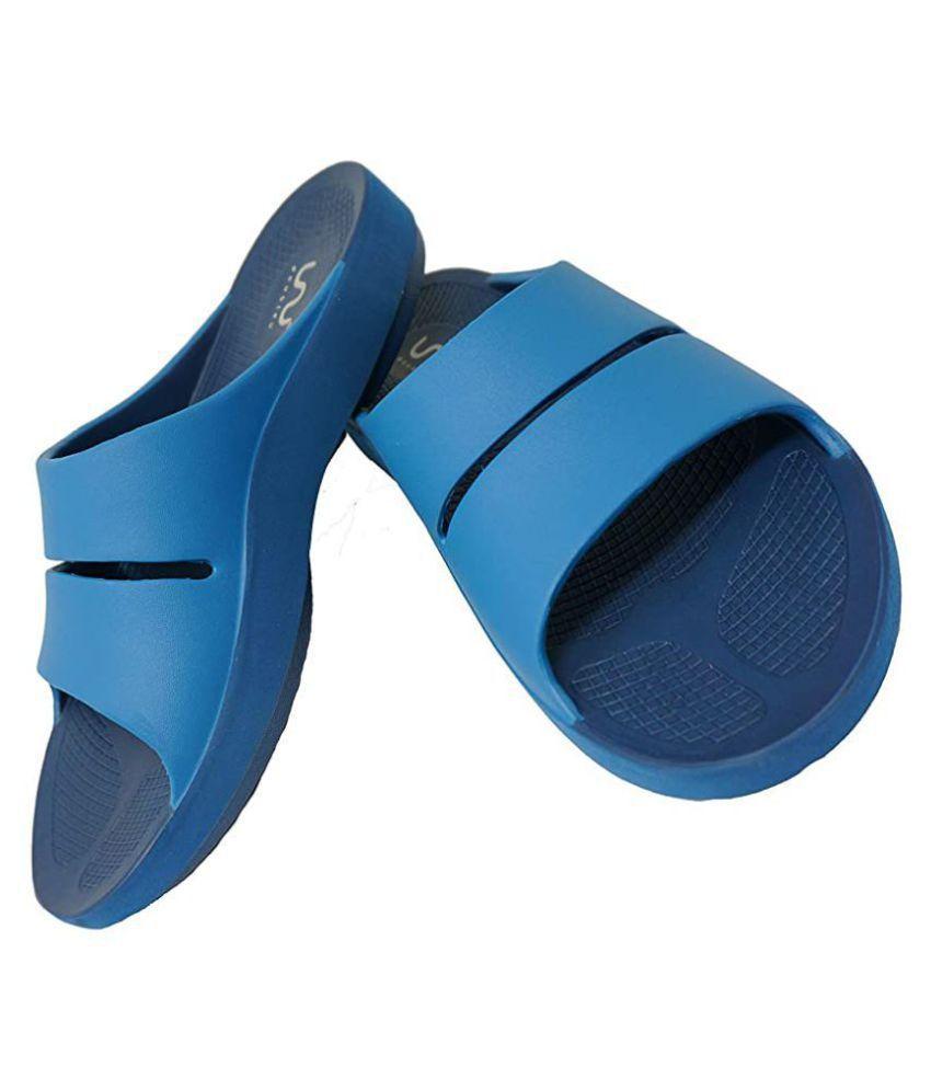 Doubleu Blue Slide Flip flop