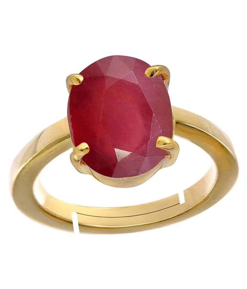 A1 Gems 7.25 Ratti 6.42 Carat A+ Quality Burma Ruby Manik Gemstone Ring For Women's and Men's