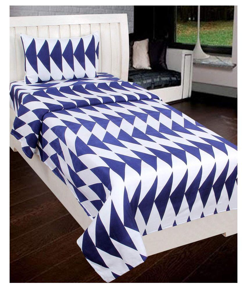 Home Saaj Microfibre Single Bedsheet with 1 Pillow Cover ( 228 cm x 152 cm )