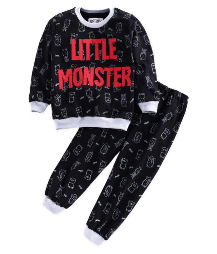 Nite Flite Boys' Little Monster Applique Cotton Pyjama Set