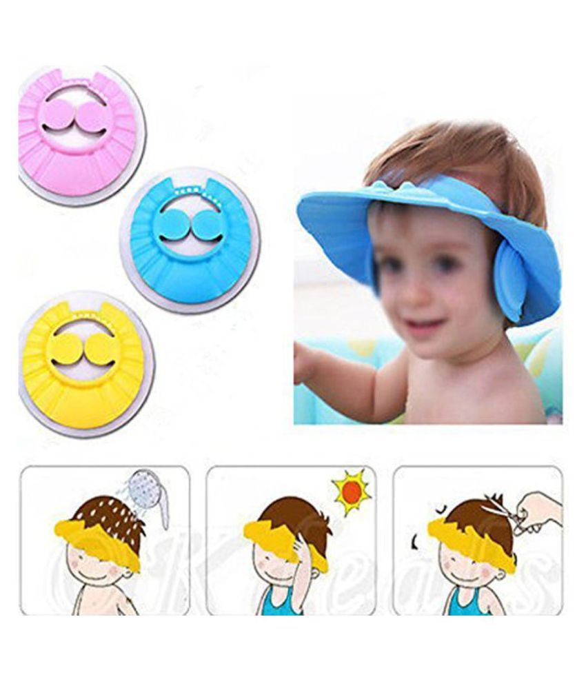 Baby Bath Hat Adjustable Kids Shower Protect Eye