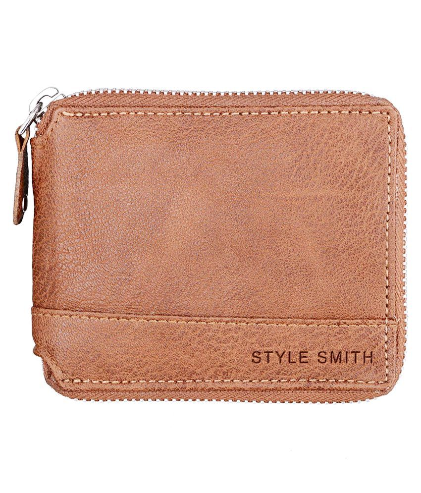 Style Smith Faux Leather Brown Casual Regular Wallet