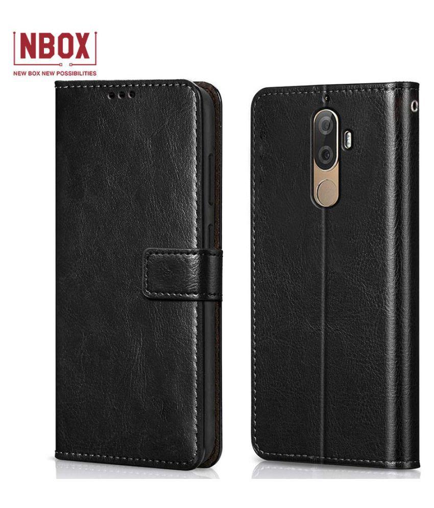Lenovo K8 Note Flip Mobile Cover by NBOX   Black