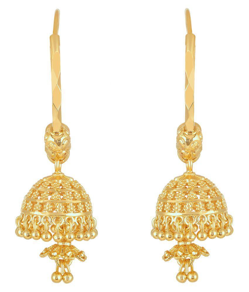 Vighnraj Jewels South Indian Traditional Gold Plated Jhumki Earring for Women and Girls