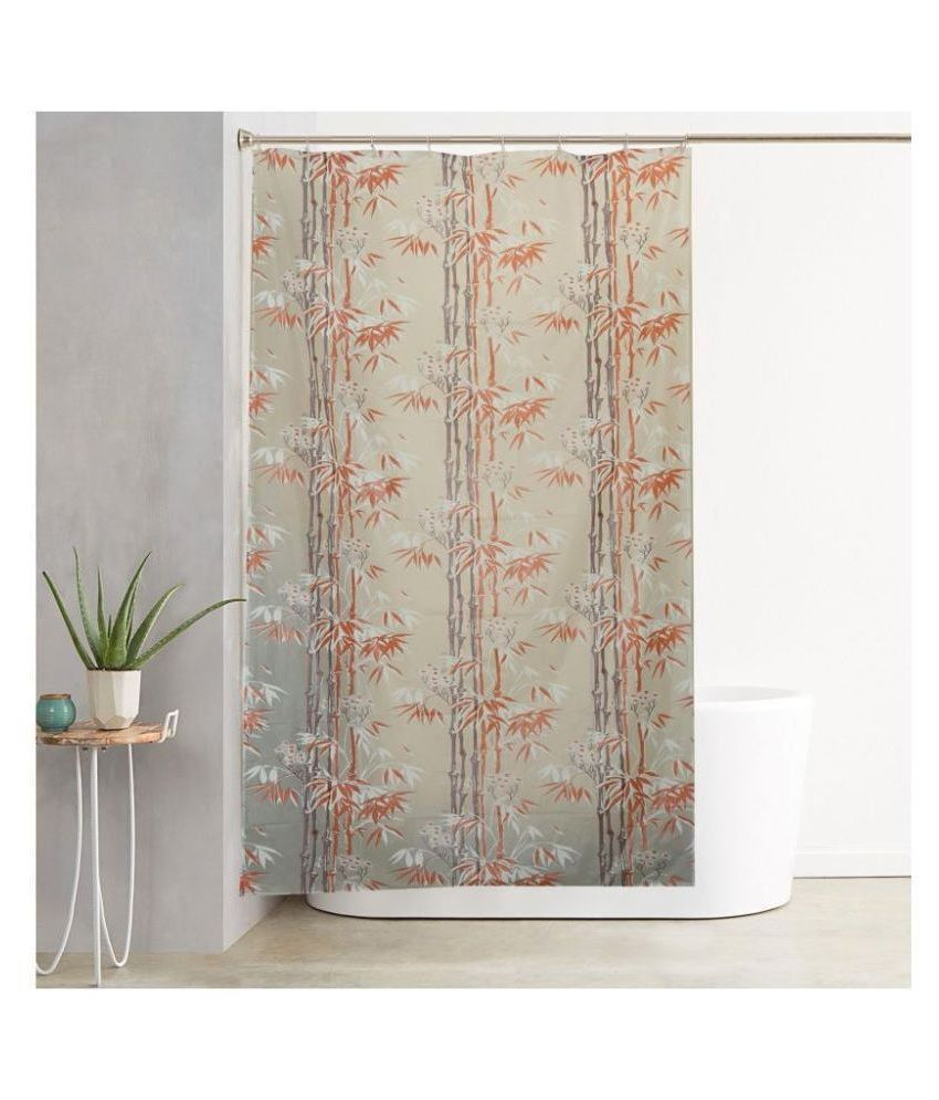 A&H Set of 1 Shower Curtain Brown Others