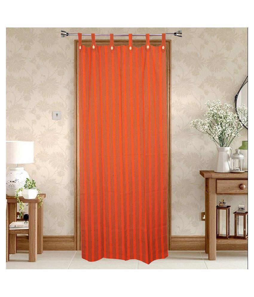 HOMEFLY Single Door Blackout Room Darkening Loop Cotton Curtains Orange