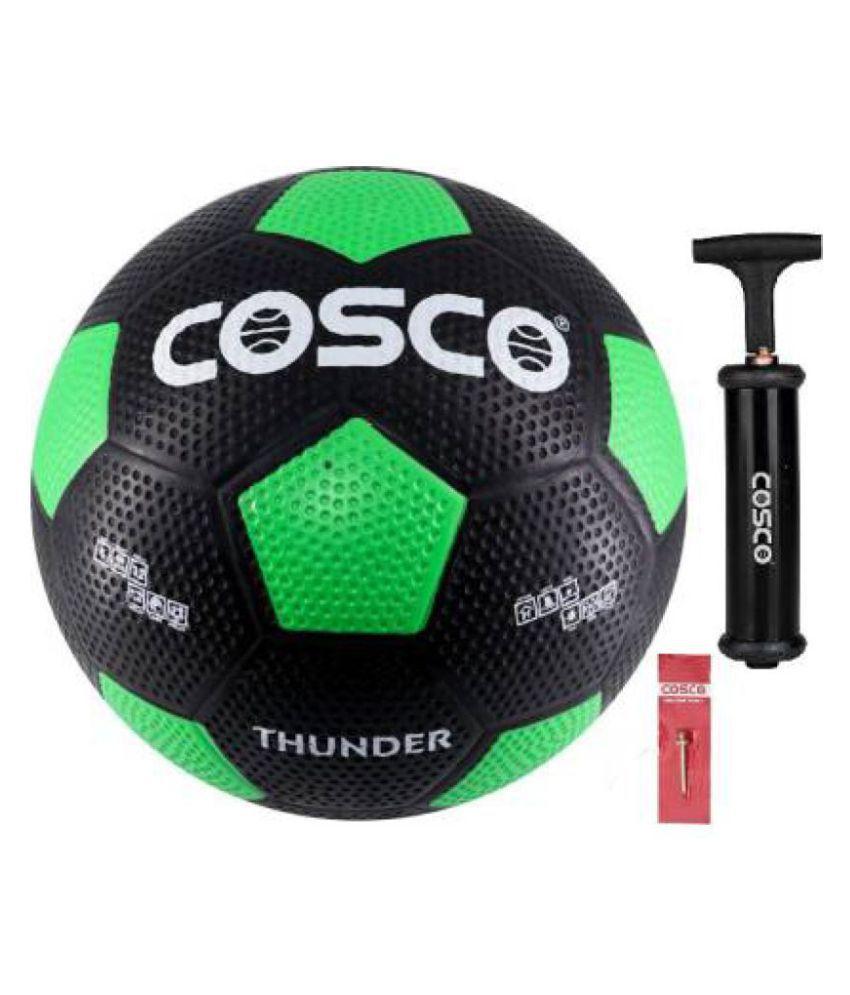 Cosco Thunder + Ball Pump Assorted Football Size  5