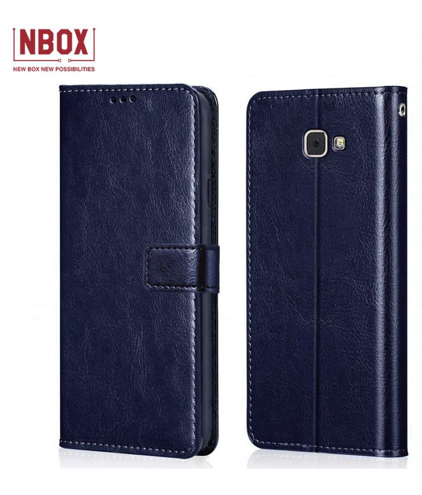 Samsung Galaxy J7 Prime Flip Mobile Cover by NBOX   Blue