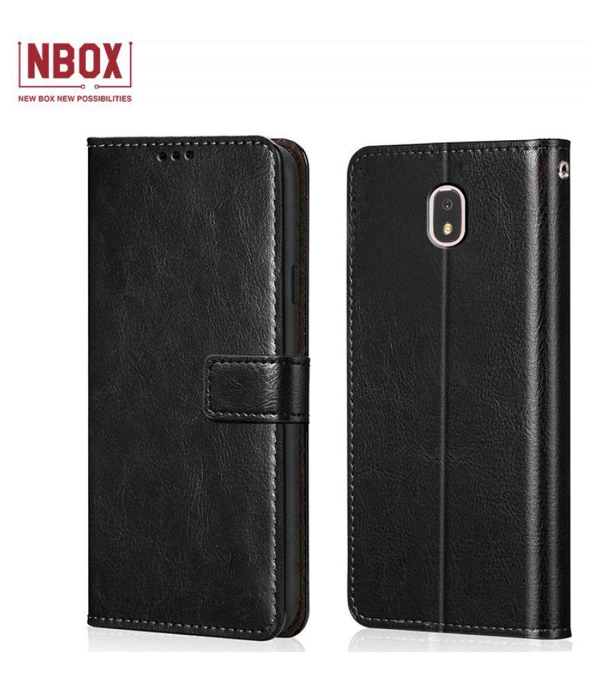 Samsung Galaxy J7 Pro Flip Mobile Cover by NBOX   Black