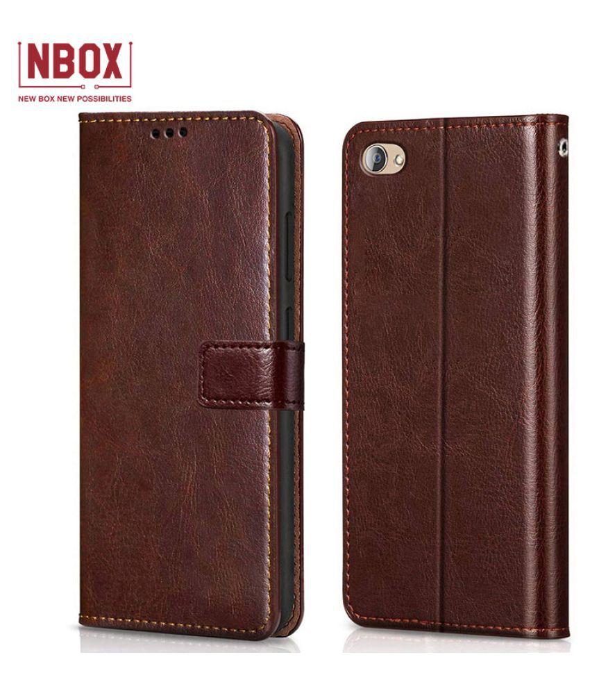 Vivo V5 Flip Mobile Cover by NBOX   Brown