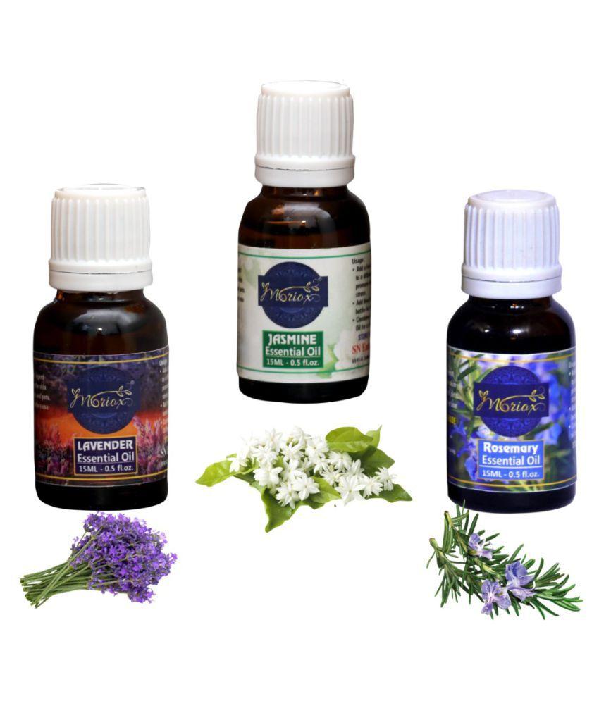 Moriox Lavender Oil,Jasmine Oil,Rosemary essential oils-Pack of 3 Aaromas/Diffuser/Soap Oil Essential Oil 180 g