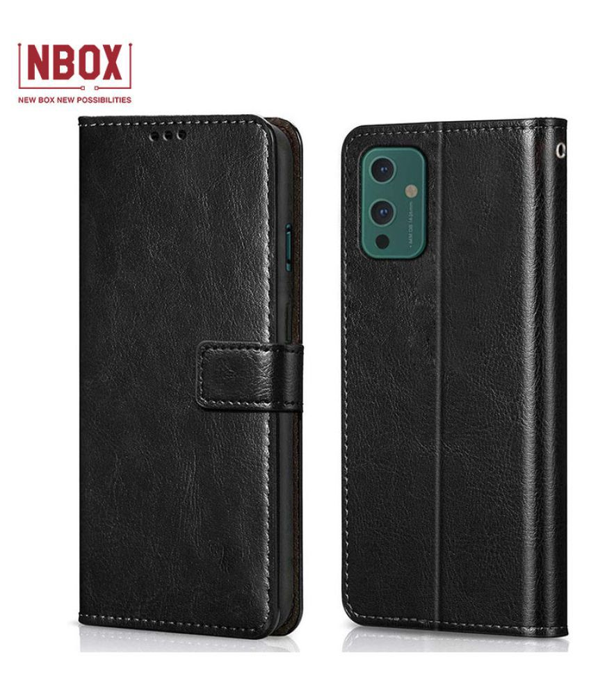 Oneplus 9 Flip Mobile Cover by NBOX   Black