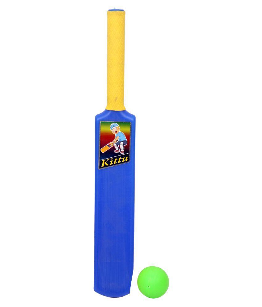 KITTU BRAND CRICKET BAT BALL SET - 1NO FOR KIDS SPORTS GAME