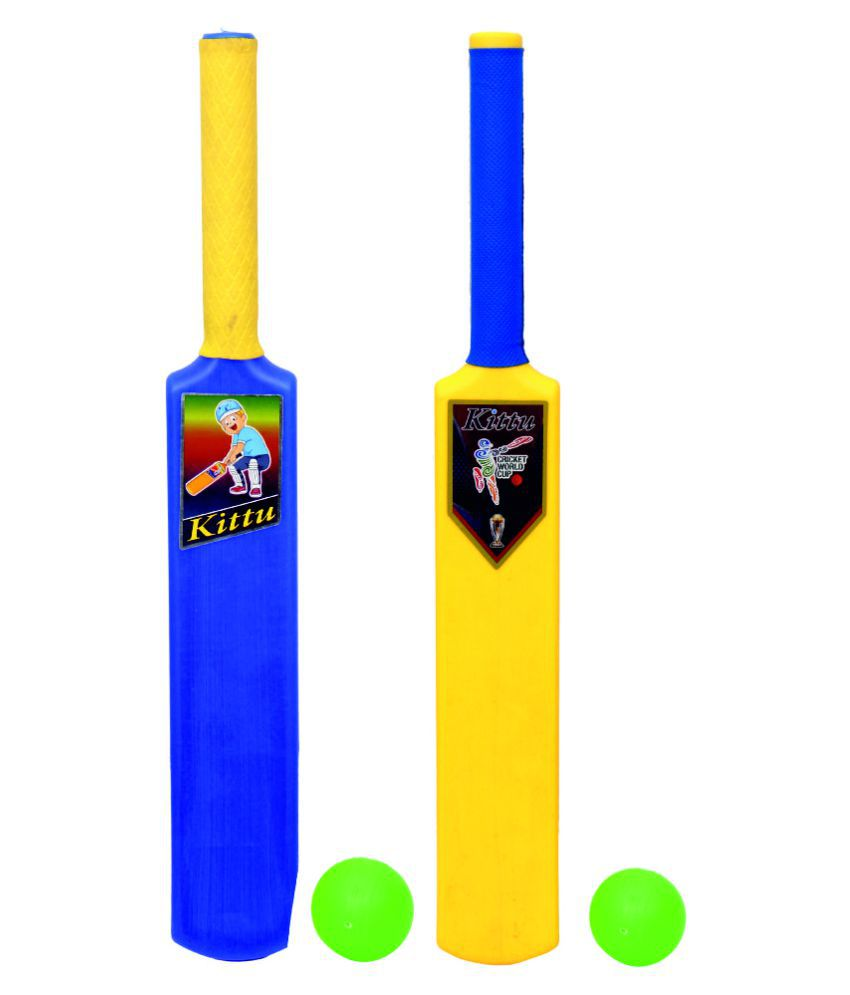 KITTU BRAND CRICKET BAT BALL SET - 1NO FOR KIDS SPORTS GAME