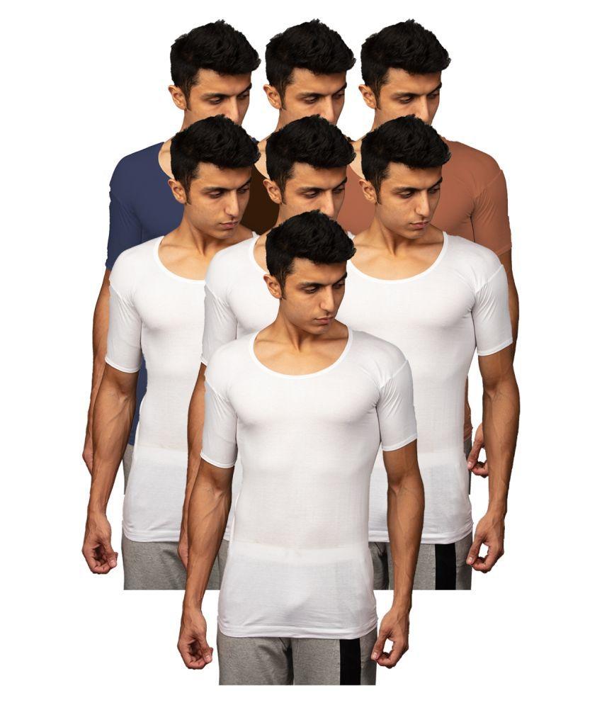 Rupa Multi Half Sleeve Vests Pack of 7