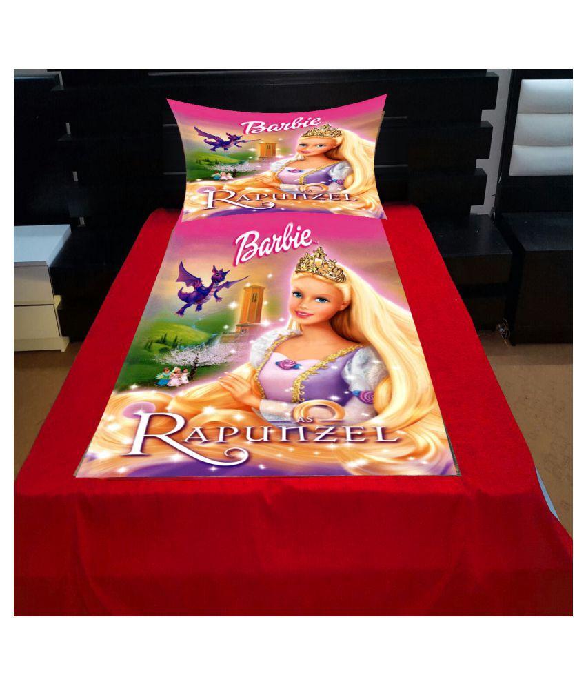 Vikas Trading Velvet Single Bedsheet with 1 Pillow Cover ( 228 cm x 158 cm )