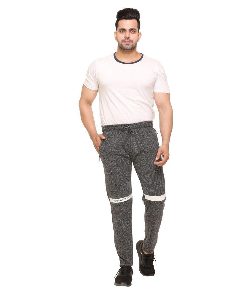CARACAS Black Fleece Trackpants Single