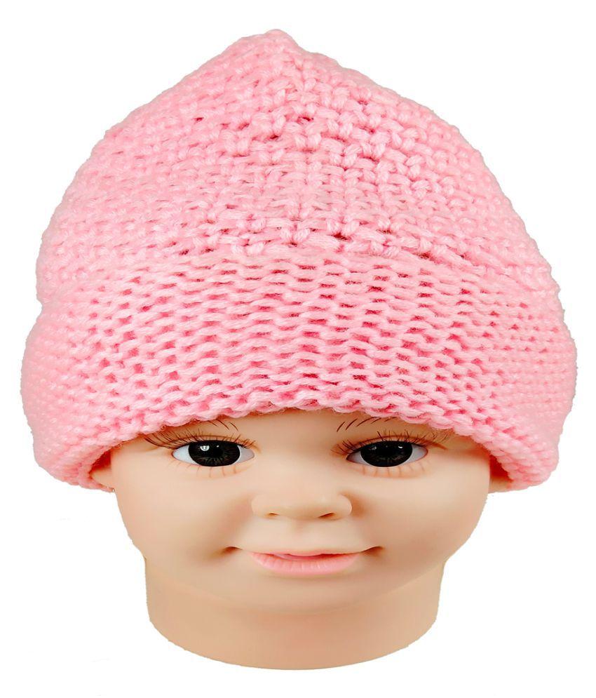 Warmzone Winter Solid Color Self Design Kids Stylish Beanie Cap  (0160C)