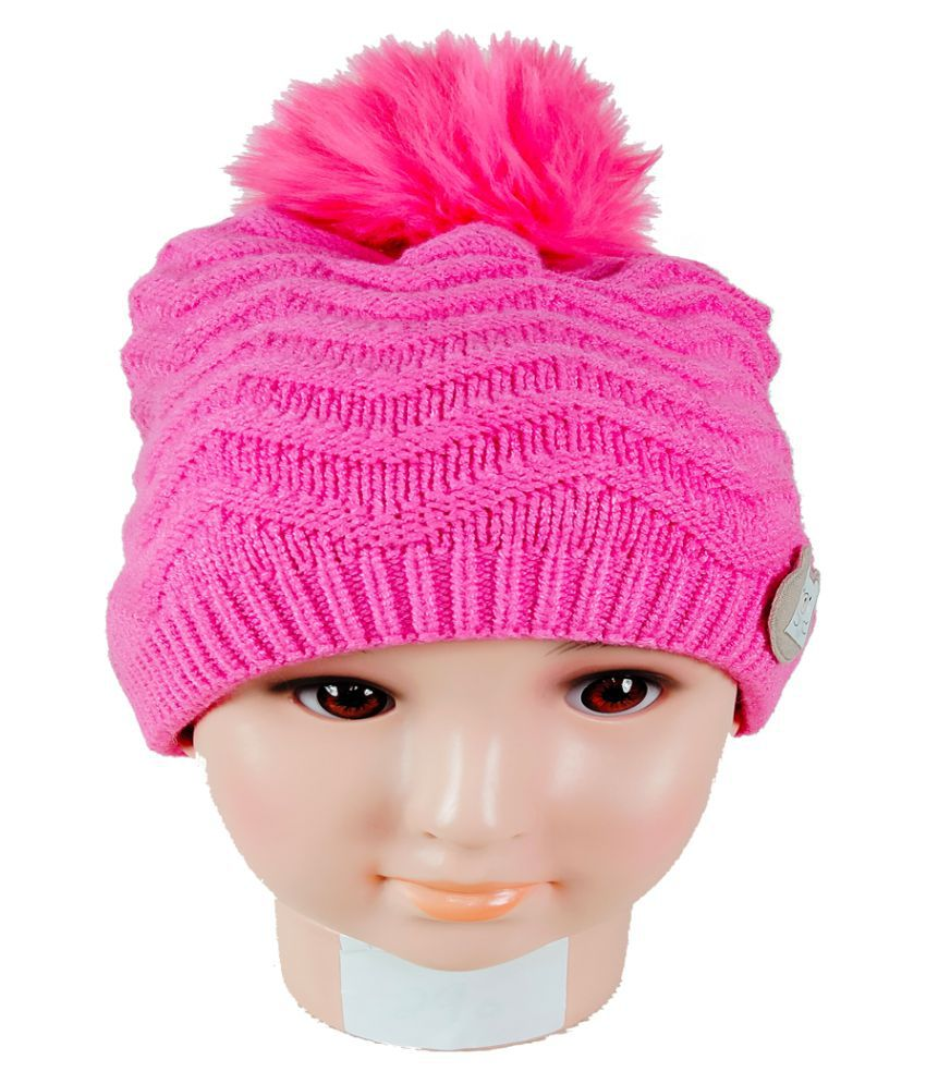Warmzone Kids Beanie Cap Solid Color Stylish Design  (0257C)