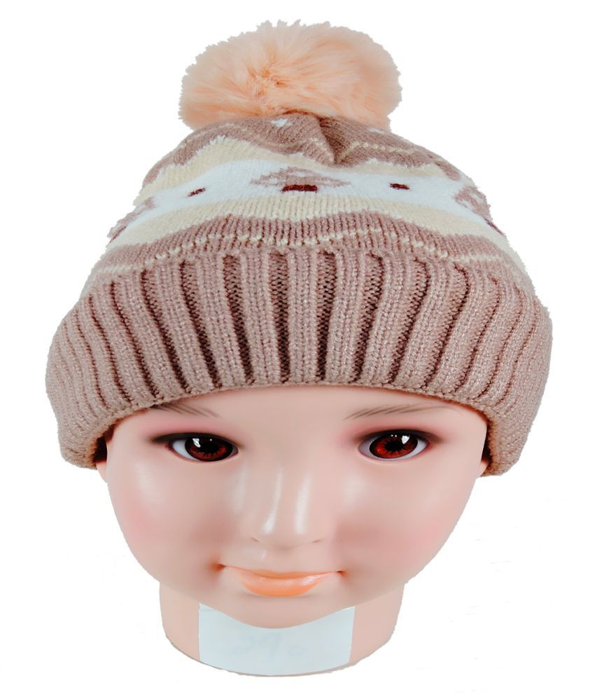 Warmzone Kids Beanie Cap Striped Multi Color (0229C)