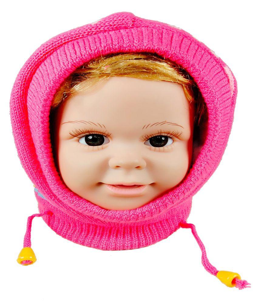 Warmzone Kids Face Cover Beanie Cap Solid Color Design  (0223C)