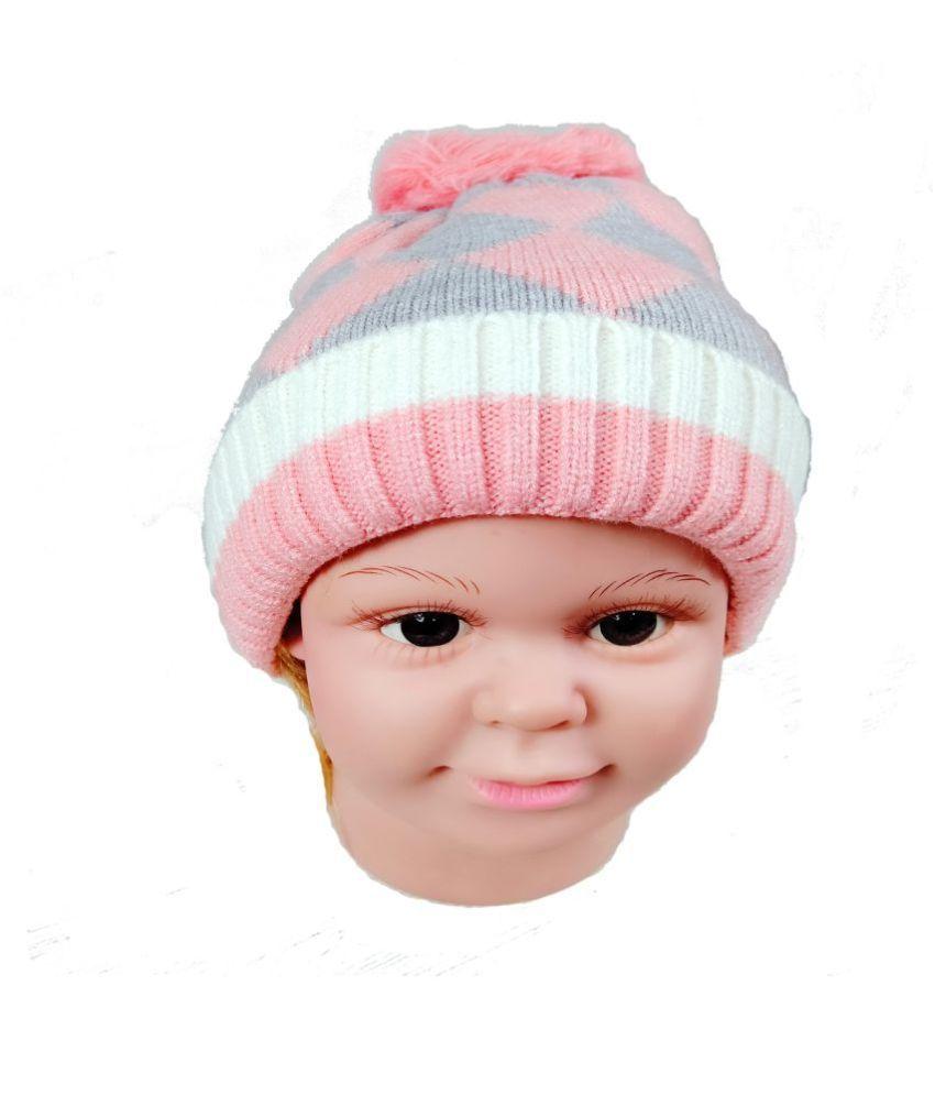 Warmzone Winter Checkered Design Multicolor Kids Stylish Cap ( 0256C )