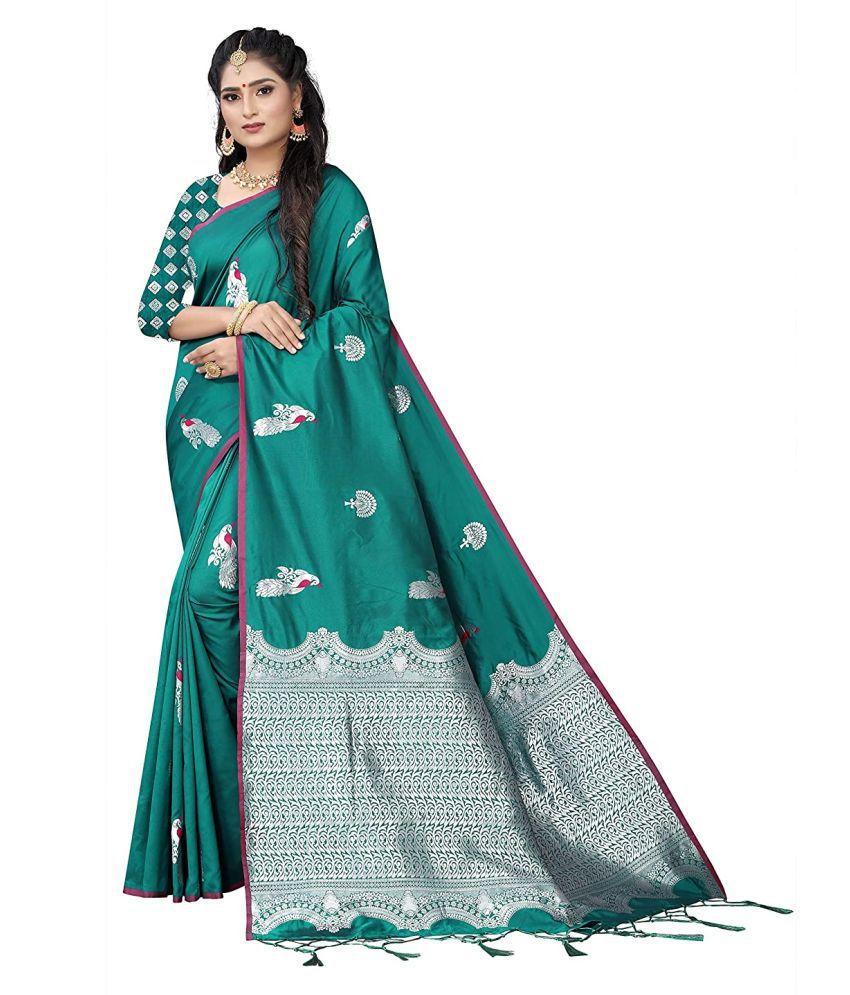 globle ex Green Silk Saree