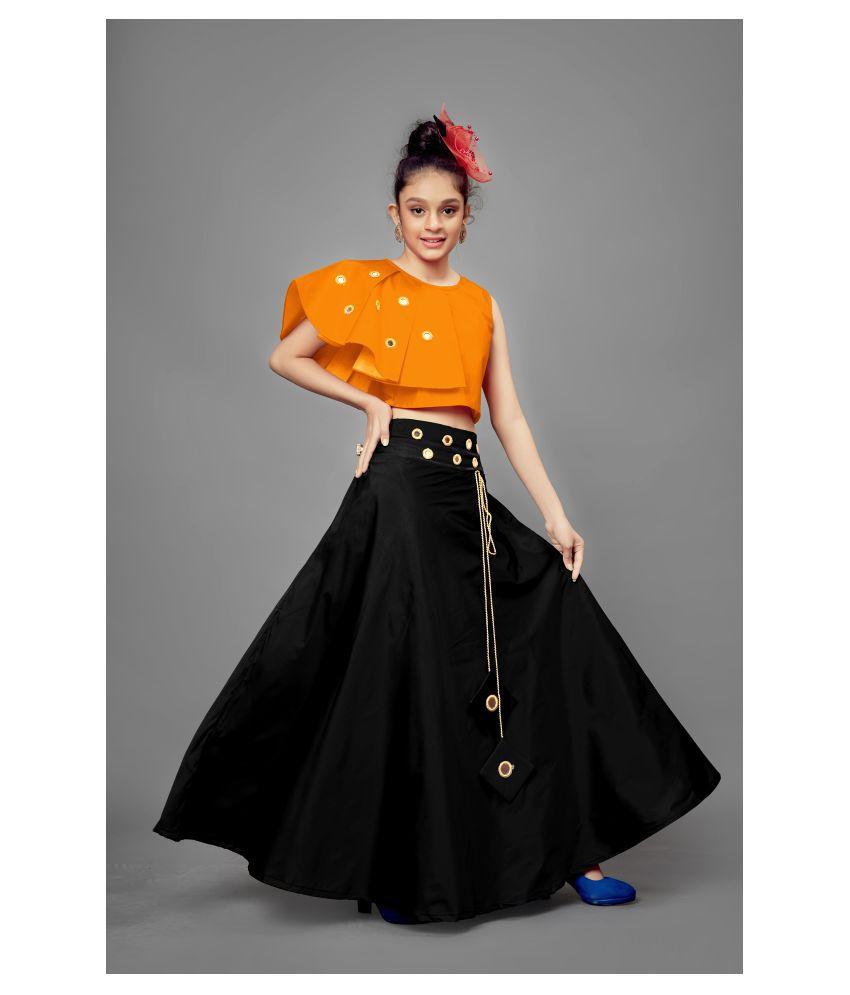 Fashion Dream Girl's Mirror Embellished Readymade Lehenga Choli