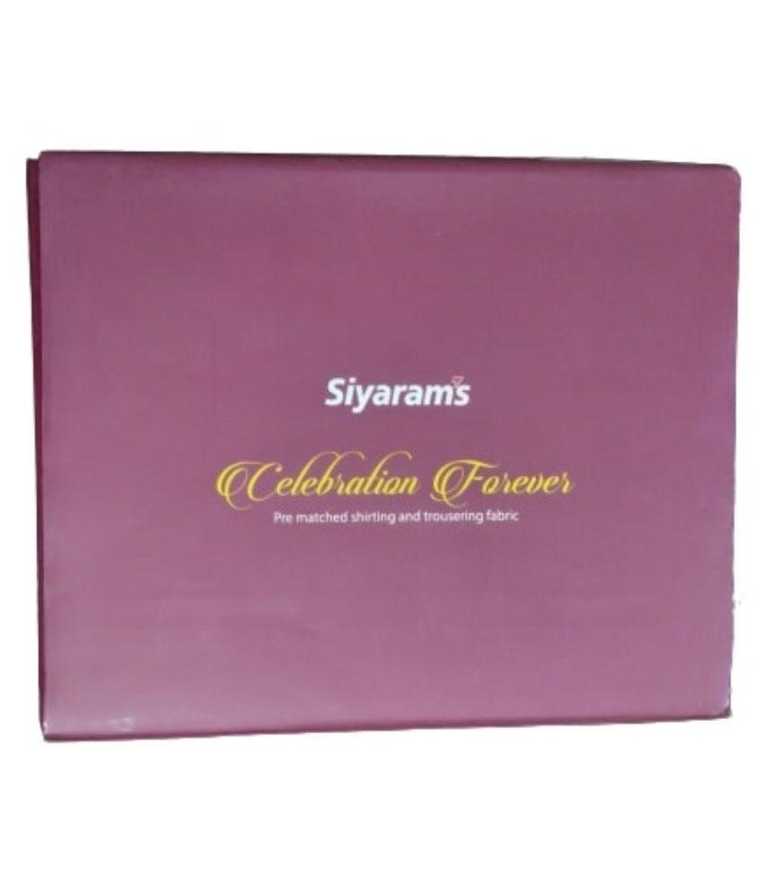 Siyaram's Multi Poly Viscose Unstitched Shirts & Trousers yes