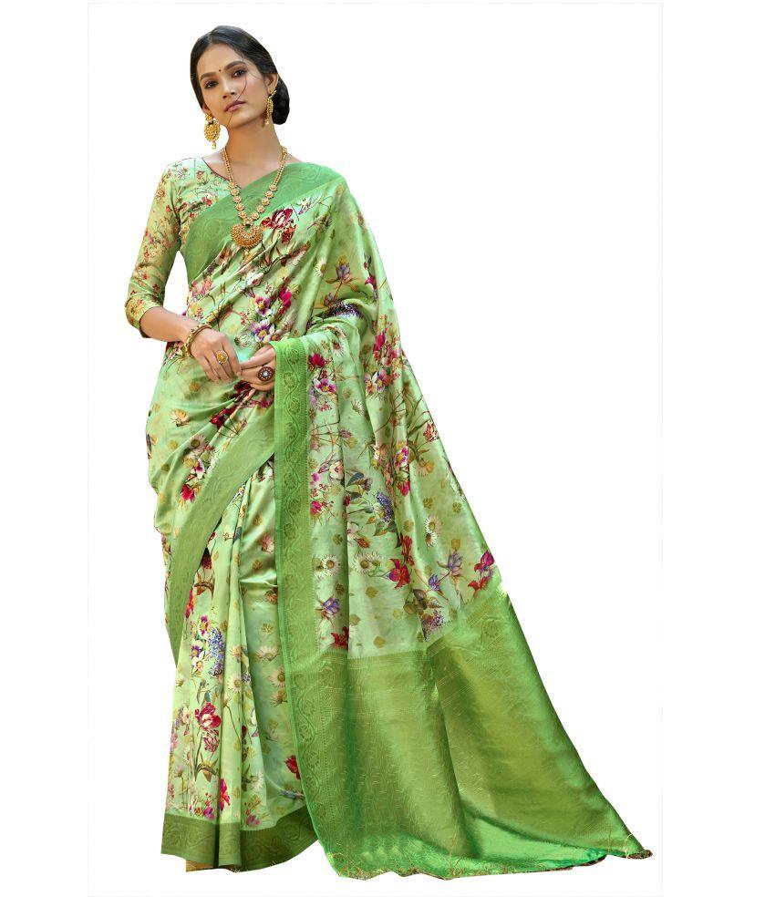Triveni Green Art Silk Saree