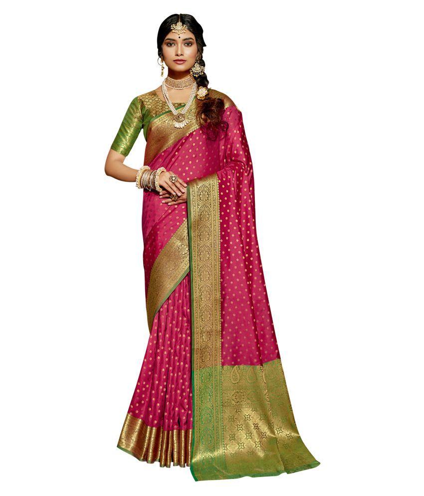 Triveni Pink Silk Saree