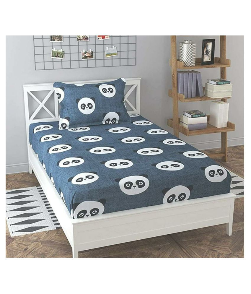 Vikas Trading Cotton Single Bedsheet with 1 Pillow Cover ( 228 cm x 153 cm )