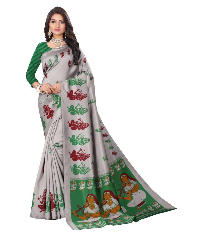 kaushaley green Art Silk Saree
