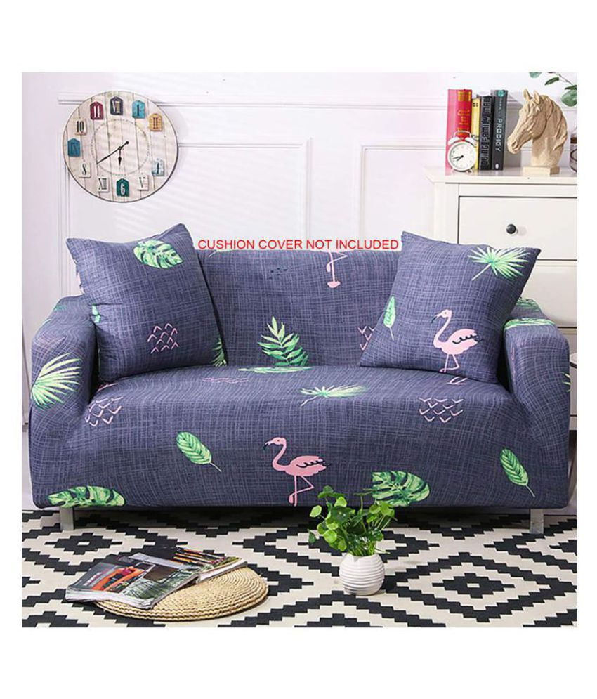 House Of Quirk 2 Seater Polyester Single Sofa Cover Set